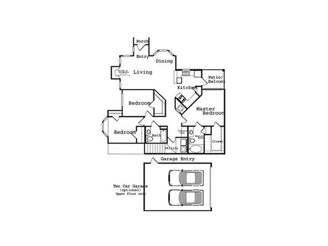 3 Bedroom Floor Plan 1 | The Legends at Wolfchase