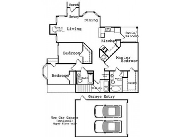 3 Bedroom Floor Plan | The Legends at Wolfchase