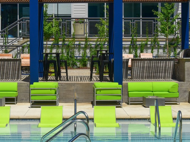 Image of Lounge at the resort worthy pool and Sunshelf for The Cleo East Nashville