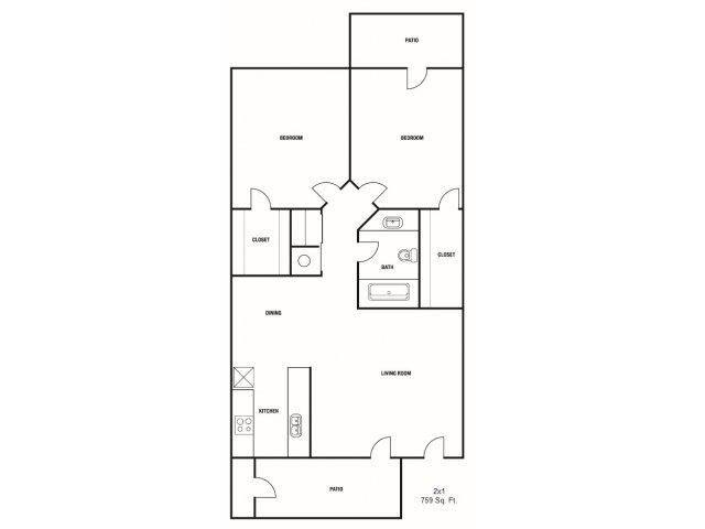 allfloor planstwo bedroom - 2 Bedroom Apartments In Mesa Az
