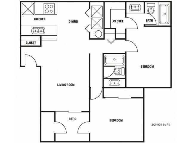 2 Bed 2 Bath Apartment In Chandler Az Laguna Village