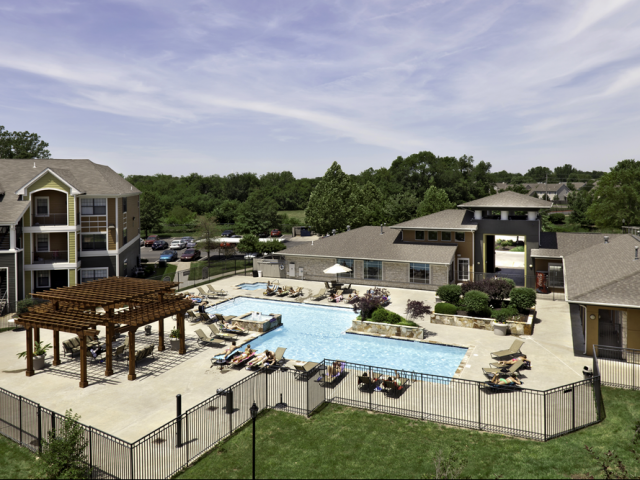 Swimming Pool and Patio | Lawrence, KS Student Apartments