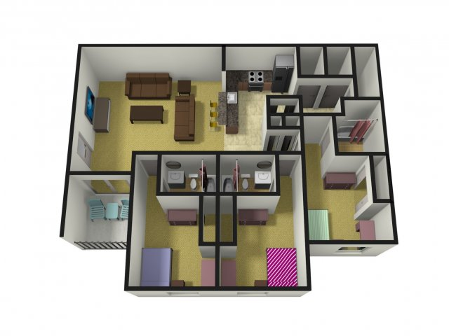 Level 27 | 3 Bedroom Apartments Oxford OH