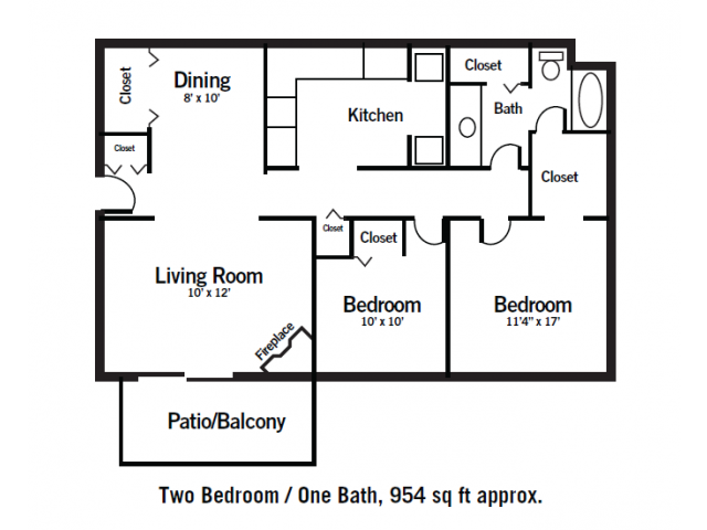 2 Bedroom 1 Bathroom