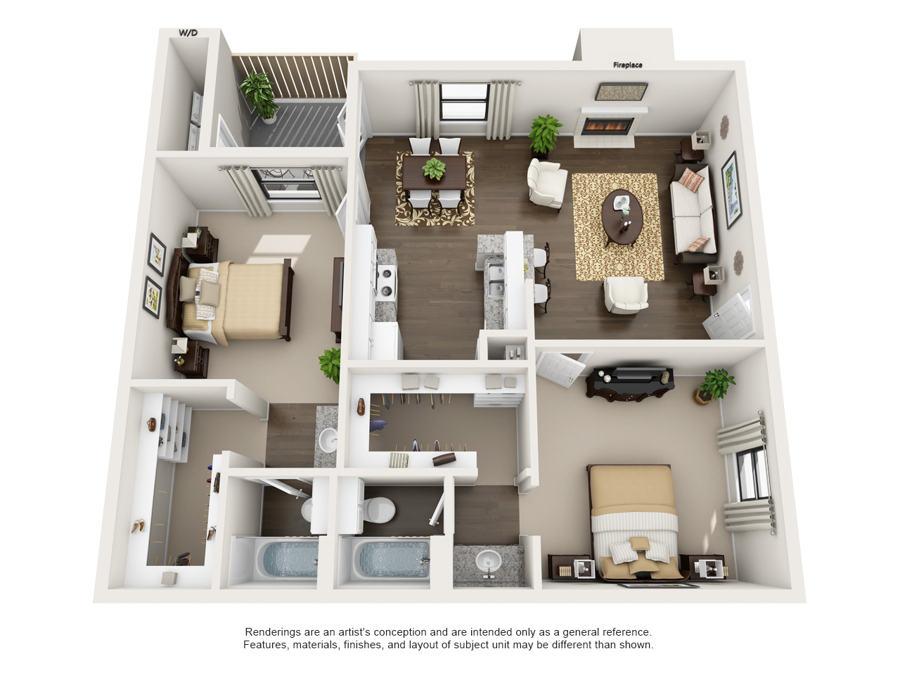 High Quality All|Floor Plans2 Bedroom / 2 Bathroom