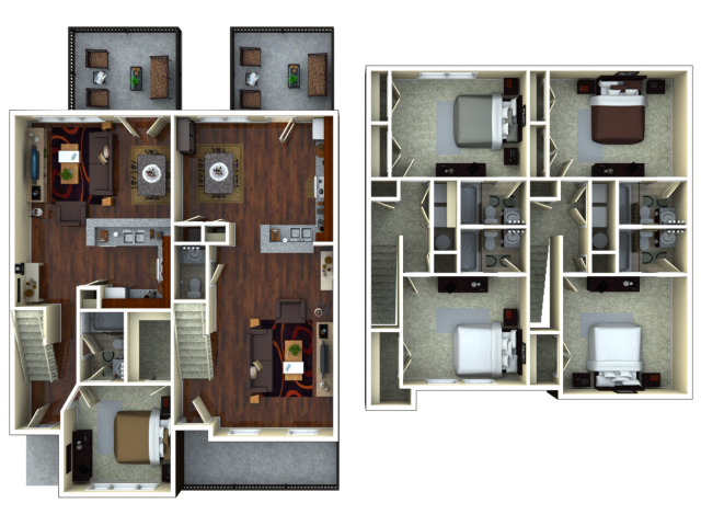 For The 3 Bedroom 3 Bathroom Floor Plan.