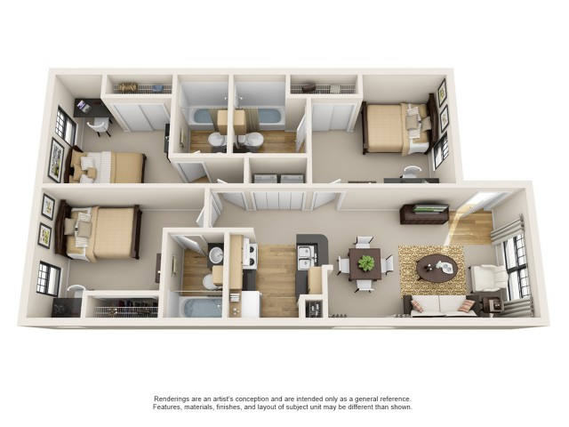 1-4 Bedroom Student Apartments | Brightside Apartments