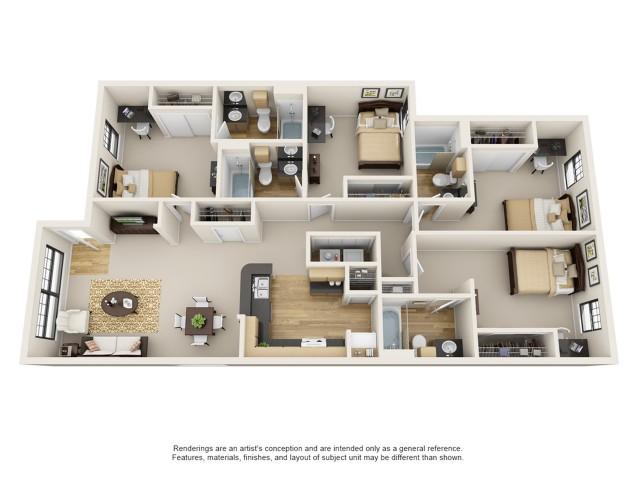 4 Bedroom Apartment Baton Rouge