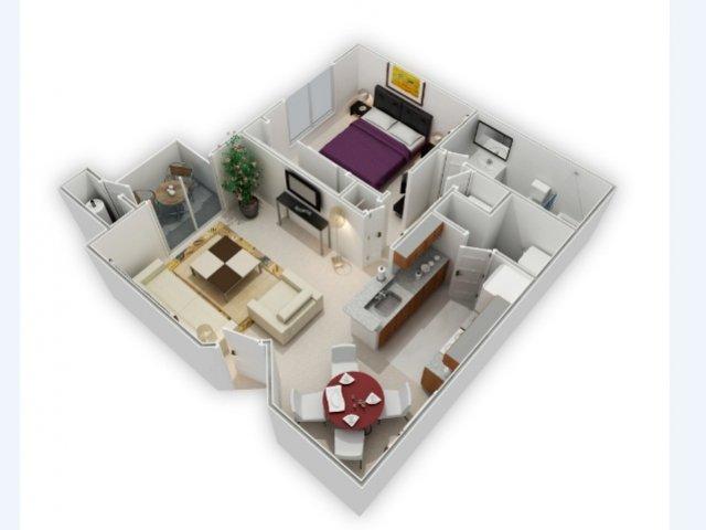 One Bedroom Apartments in Richmond   Bella Vista at Hilltop