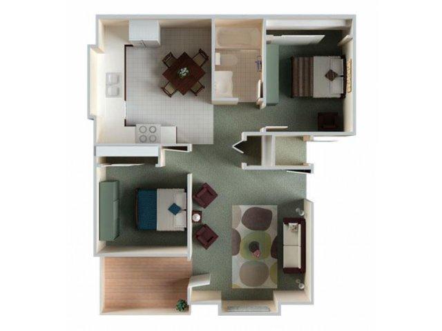 Two Bedrrom Apartments in Sacramento | River Terrace