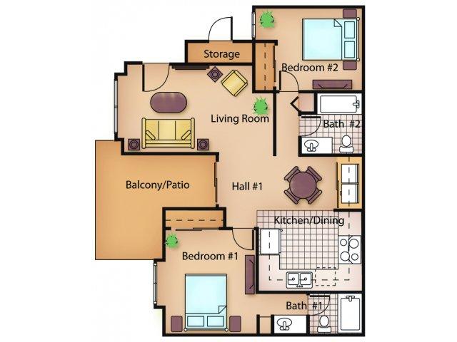 Two Bedroom Apartments in Sacramento | Ashford Park