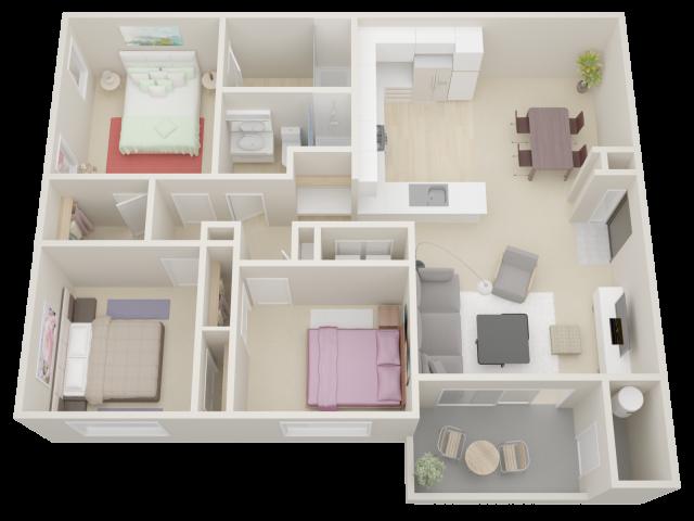 Three Bedroom Apartments in Moorpark   Waterstone at Moorpark