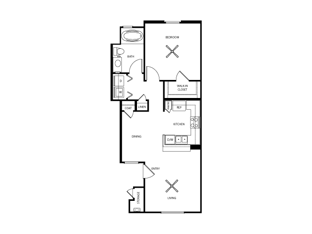 Bristol Floor Plan | Everett Apartment Homes | Apartments in Las Vegas