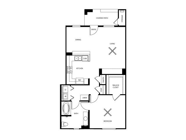 Belmont Floor Plan | Everett Apartment Homes | Apartments in Las Vegas