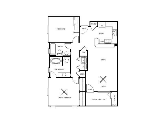 Malden Floor Plan | Everett Apartment Homes | Apartments in Las Vegas