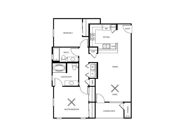 Revere Floor Plan | Everett Apartment Homes | Apartments in Las Vegas