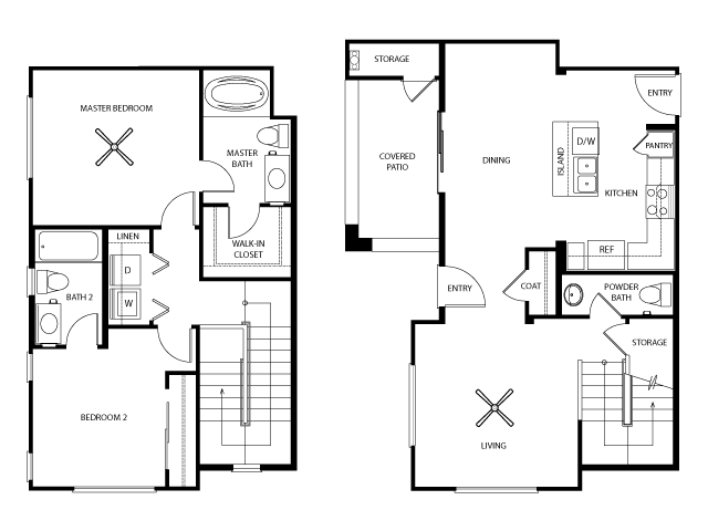 Newport Floor Plan | Everett Apartment Homes | Apartments in Las Vegas
