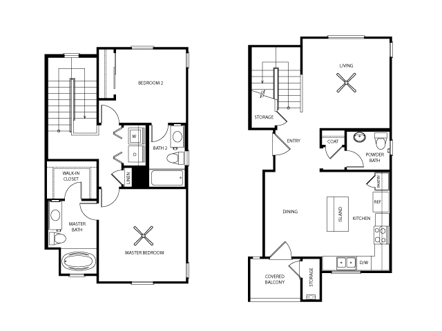 Wilson Floor Plan | Everett Apartment Homes | Apartments in Las Vegas
