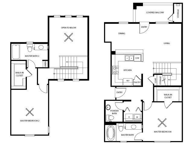 Kingston Floor Plan | Everett Apartment Homes | Apartments in Las Vegas