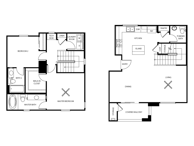 Emerson Floor Plan | Everett Apartment Homes | Apartments in Las Vegas