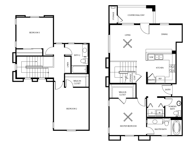 Logan Floor Plan | Everett Apartments | Apartments in Las Vegas