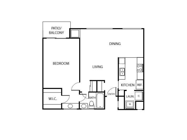 Monterey Floor Plan | Serrano Highlands Apartments | Apartments in Lake Forest