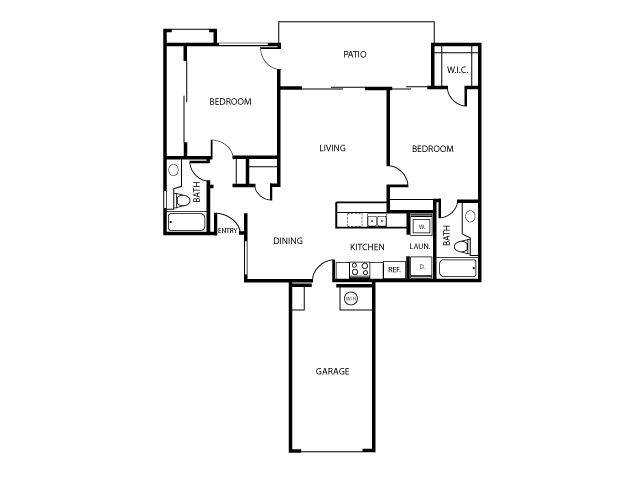 Madrid Floor Plan | Serrano Highlands Apartments | Apartments in Lake Forest