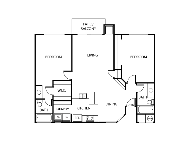 Montecito Floor Plan | Serrano Highlands Apartments | Apartments in Lake Forest