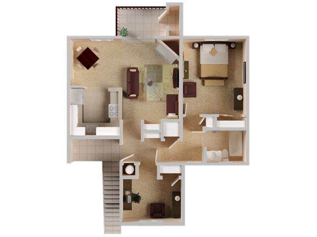 Two bedroom Apartments in El Dorado Hills
