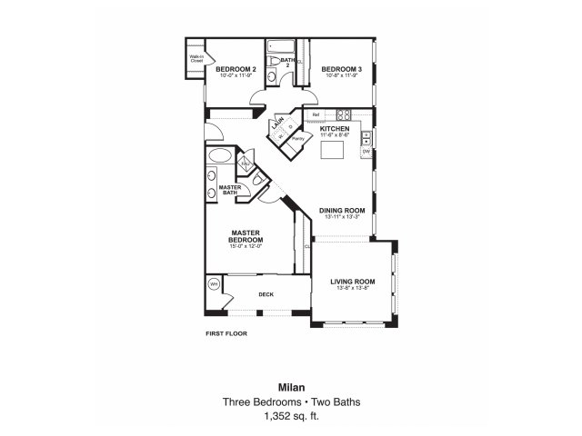 3 bed 2 bath apartment in oceanside ca piazza d oro for Oceanside house plans