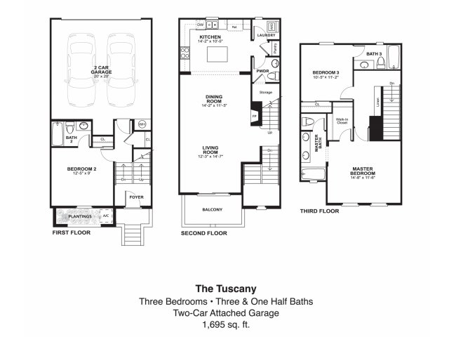 3 bed 3 5 bath apartment in oceanside ca piazza d oro for Oceanside house plans