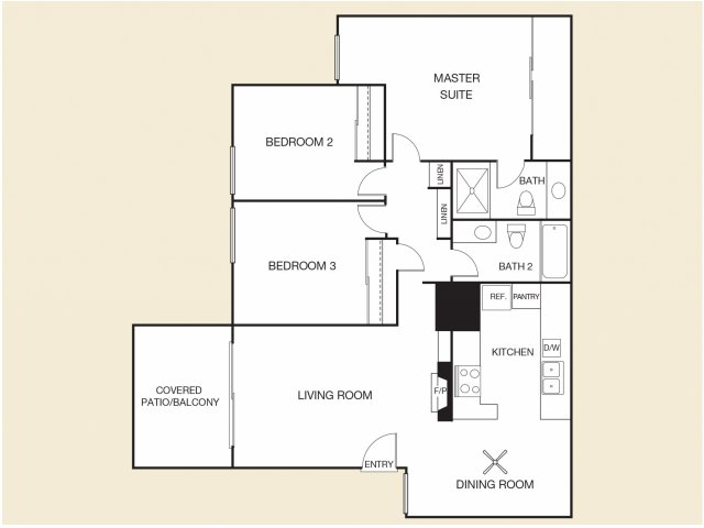 Rio Floor Plan D | Apartments in Cypress, CA | Casa Grande Apartment Homes Logo