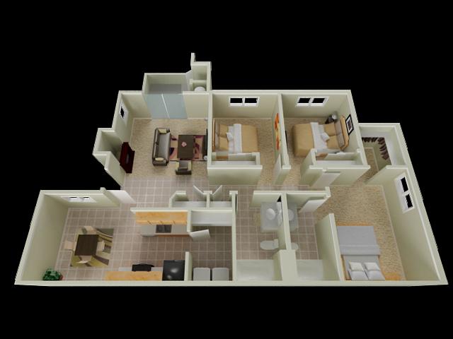 Three Bedroom Apartments in Elk Grove   Stone Lake