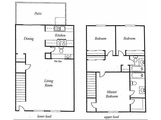 Three Bedroom Apartments for rent at Torrey Ridge Apartments l Fresno Rentals, Ca
