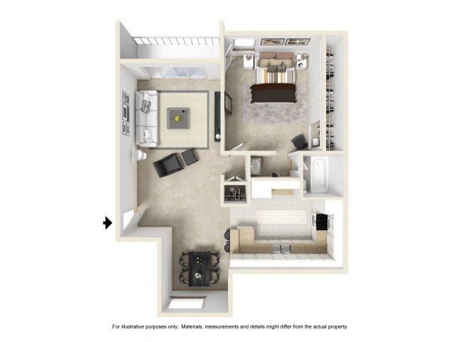 One Bedroom Apartments for rentin El Cajon near San Diego, CA l Colonnade at Fletcher Hills Apartment Homes