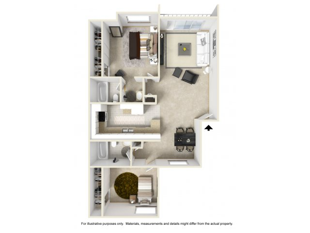 Two Bedroom Apartments for rent in El Cajon near San Diego, CA l Colonnade at Fletcher Hills Apartment Homes