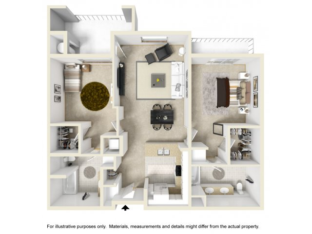 Two Bedroom Apartments For Rent in Ontario, CA l The Colony at Ontario Square Apartment Homes