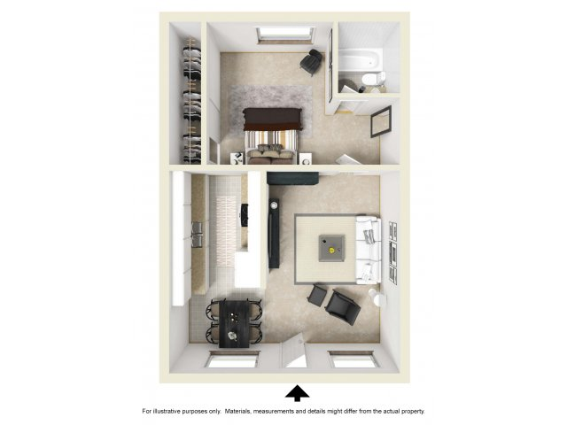One Bedroom Apartments for rent in Moreno Valley, CA l Mediterranean at Towngate Apartment Homes