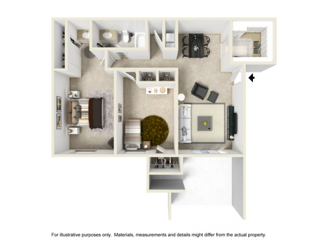 Two Bedroom Apartments For Rent in Riverside, CA l Waterstone Magnolia Apartment Homes