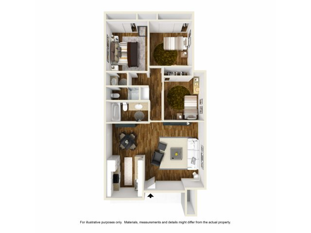 Three Bedroom Apartments for rentin Lakewood, CA l Towne Center Apartment Homes