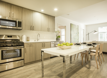 Luxury kitchens at Mode Apartments |  San Mateo Apartments