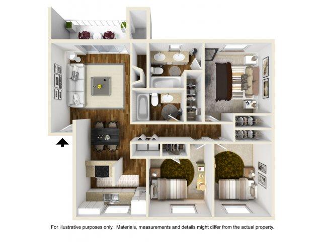 Three Bedroom Apartments In Federal Way Wa Club Palisades