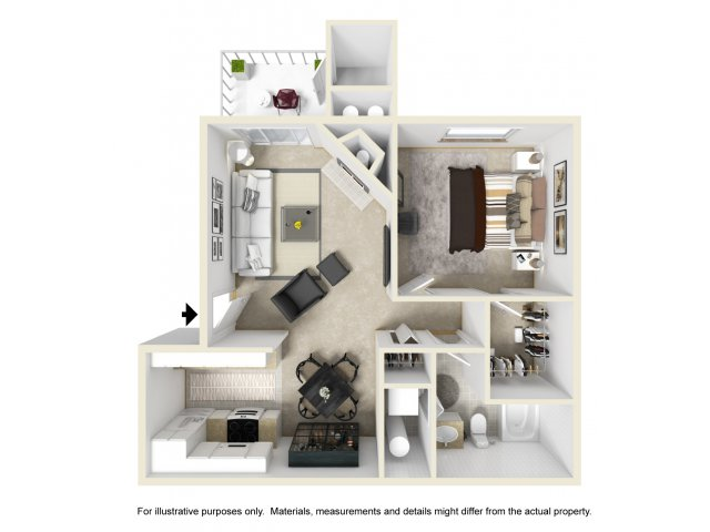 One Bedroom Apartments in Kent | Atrium on James
