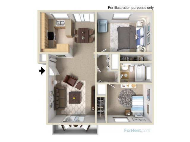 Two bedroom apts l The Pointe at 2316 in Oceanside, CA
