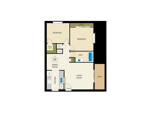 Two Bedroom Apartments for rent in Fresno, CA l Landing at Francher Creek