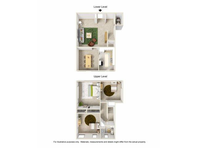 Three Bedroom Apartments for rent in LA | WyvernwoodGarden Apartments Los Angeles