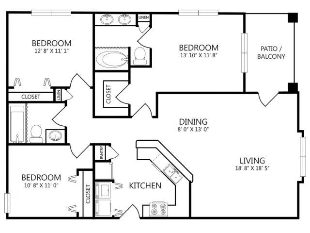 Three Bedroom Apartments For Rent in New Baunfels, Texas l Cotton Crossing Apartments