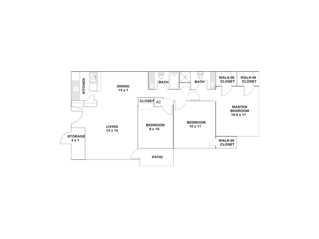 Three Bedroom Apartments For Rent in ElPaso, Texasl Ridgemar Apartments