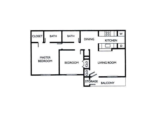 Two Bedroom Apartments For Rent in El Paso,Texes l La Privada Apartments