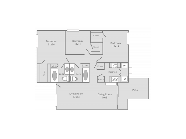 Three Bedroom Apartments for rent Temple, Texas Apartments l The Retreat at Western Hills